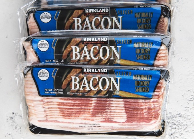 4 packages of kirkland hickory smoked bacon