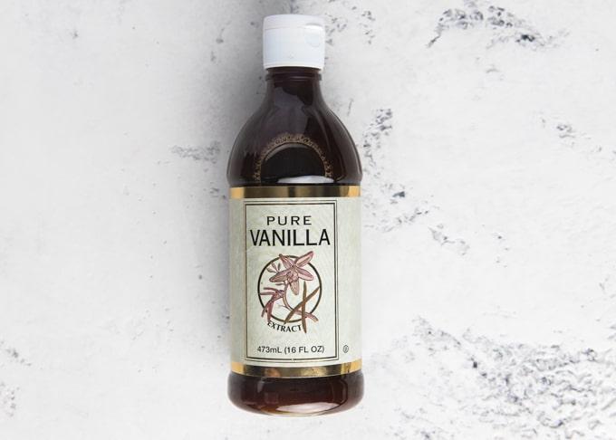 bottle of costco pure vanilla extract