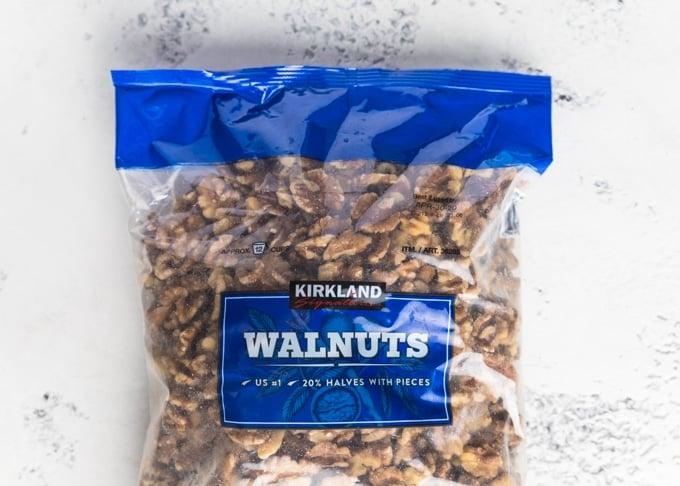 bag of kirkland shelled walnuts