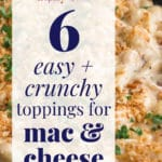 how to make crispy toppings for mac and cheese