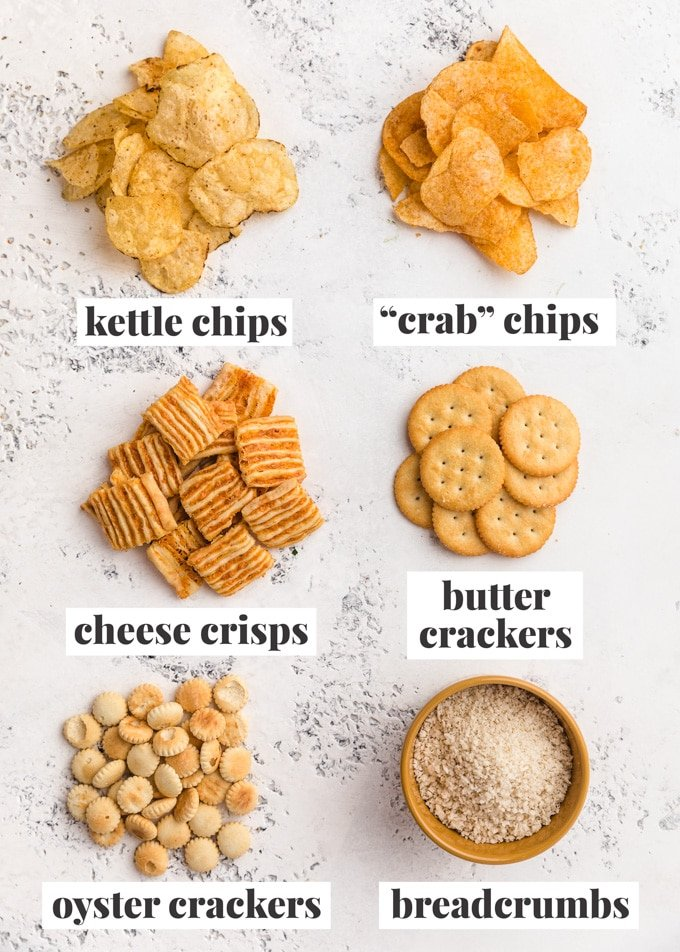 crackers, chips, and breadcrumbs that you can use to as mac and cheese toppings
