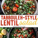 tabbouleh-style lentil salad recipe