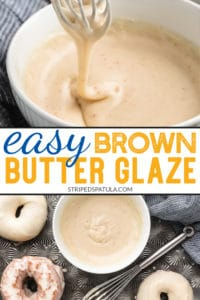 how to make brown butter cake glaze