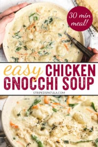 how to make chicken gnocchi soup with rotisserie chicken
