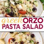 how to make greek orzo salad