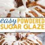 how to make basic powdered sugar glaze