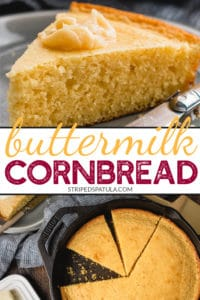 how to make buttermilk cornbread in a skillet