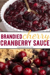 how to make brandied cherry cranberry sauce