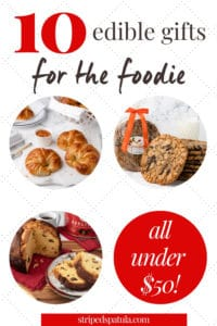 edible holiday gifts for foodies