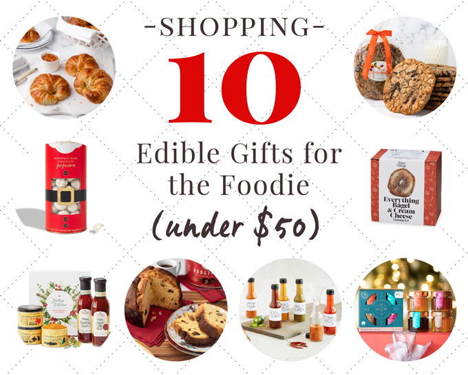 edible foodie gifts for the holidays under $50