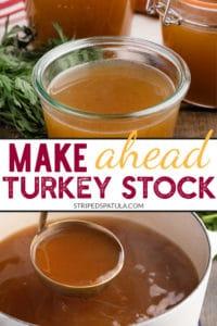 how to make turkey stock for thanksgiving dinner