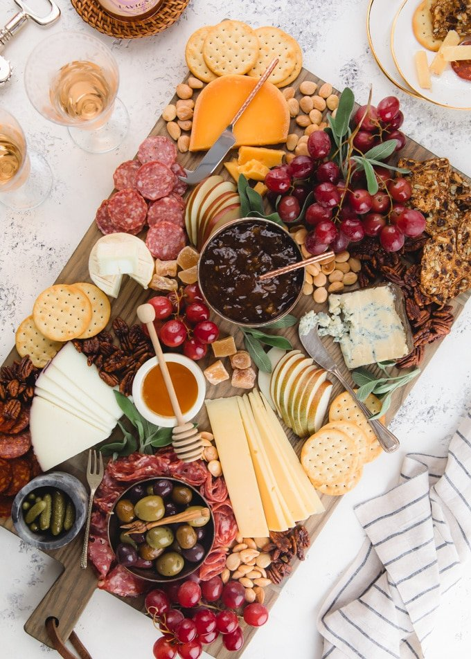 overhead view of the ultimate cheese board