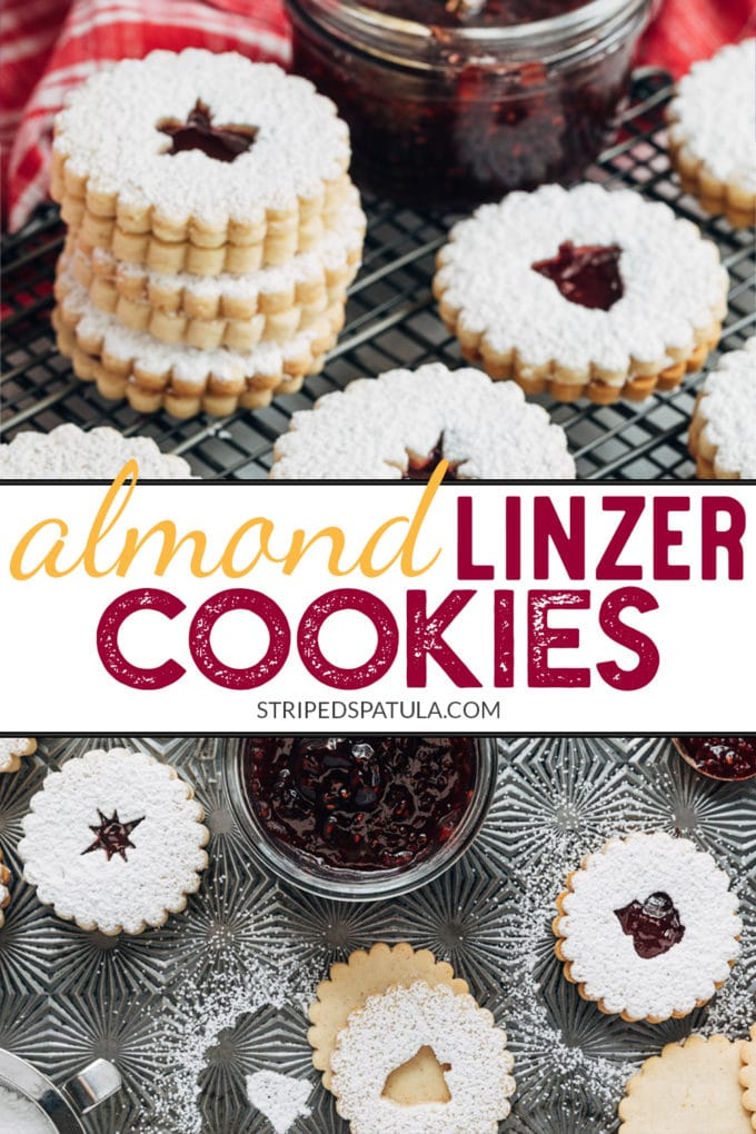 how to make almond linzer cookies