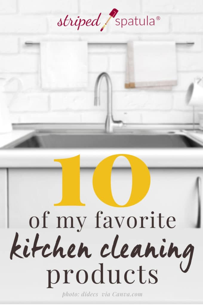10 products I use to clean the kitchen