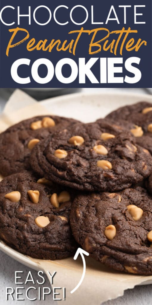 how to make chocolate peanut butter chip cookies