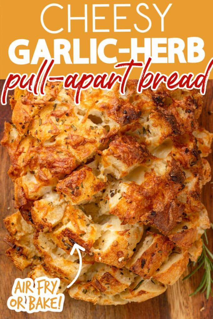 how to make cheesy garlic pull apart bread